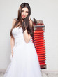 Bride with Russian accordion