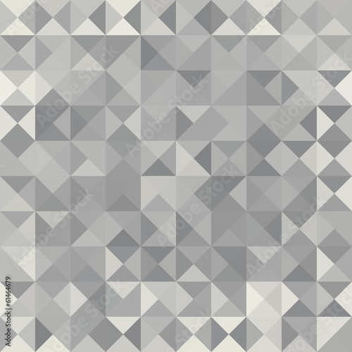 Retro pattern of geometric shapes.  Grey mosaic banner.