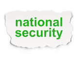 Protection concept: National Security on Paper background