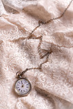 Pocket watch on lace