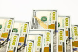 new edition 100 dollar banknotes, money for bonus and dividend c poster