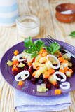 salad with potatoes and beetroot
