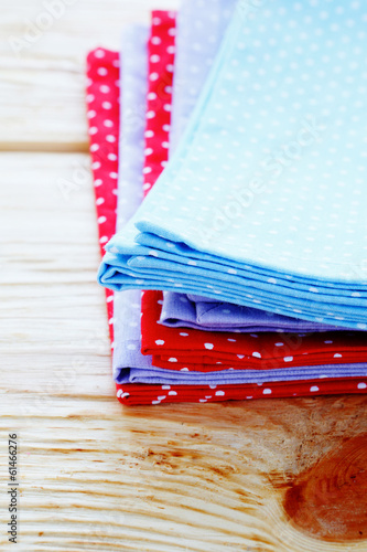 stack of napkins with polka dots