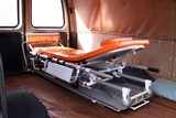 Inside view of used ambulance