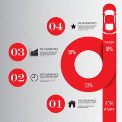 Abstract car infografics