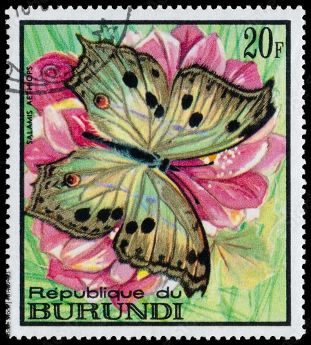 REPUBLIC OF BURUNDI - CIRCA 1968: A stamp printed in Burundi sho