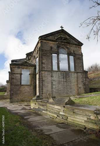 derelict church of st mary in calderdale