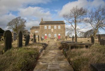 yorkshire moorland windswept methodist chapel of mount zion