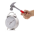 Alarm clock and hammer