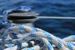 Schot mit Winch auf einer Segelyacht / Segelboot / Segelschiff