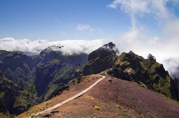 Pico do Areeiro trekking trail start, Madeira