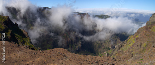 Fog climbing mountains, Madeira
