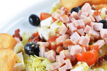 fresh chopped ham salad