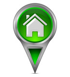 Pin Pointer mit Home Symbol