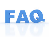 Frequently Asked Questions icon with a 3d (FAQ)