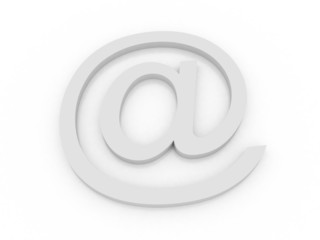 Letter to the e-mail symbol dog 3d