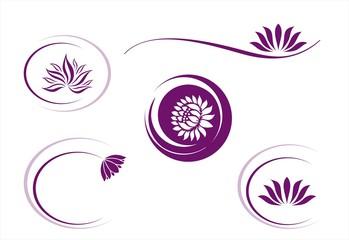 water lily , Buddha , Eco friendly business logo