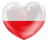 Poland flag love heart