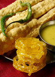 Fafda – A snack from Western Indian state of Gujarat made  poster