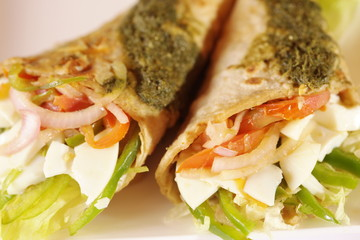 Indian vegetable roll.