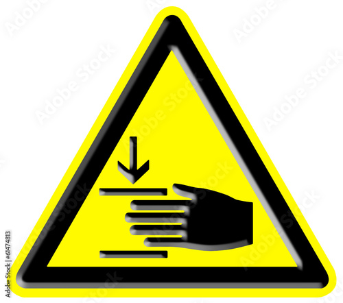 Danger of damaging your hands sign