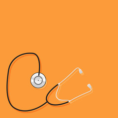medical tool on a orange background