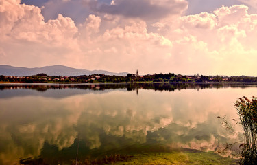 Reflection on Lake of Pusiano