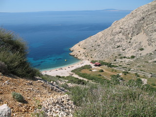 spiaggia di stara baska isola di krk croazia