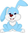 cute rabbit cartoon posing