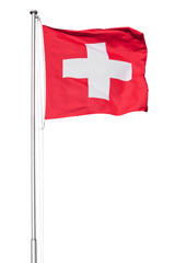 Swiss Flag on White