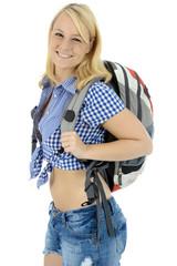 Twen mit Rucksack beim Wandern