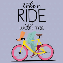background with fixed gear bicycle