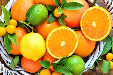Citruses, oranges, lemon,grapefruit, lime, mandarin, kumquats