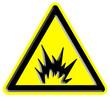 Warning risk of explosion sign