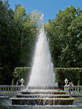 Peterhof. The Pyramid fountain in Nizhny park