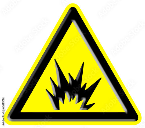 Warning risk of explosion sign
