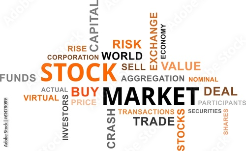 word cloud - stock market