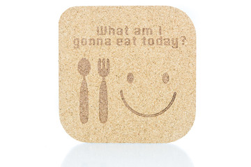 """wood texture write """"what am i gonna eat today"""" concept"""