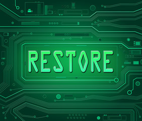 Restore concept.