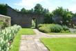hesrstmonceux castle garden entrance, UK