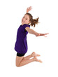 canvas print picture - young girl jumping