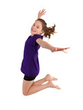 Fototapety young girl jumping