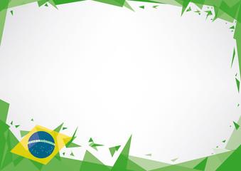 Horizontal poster origami of brazil