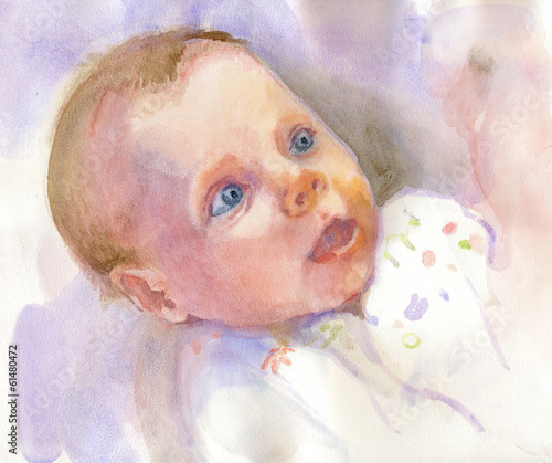 Portrait of an Baby (water-colors technique)