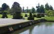 pathway & moat, Hever castle garden, Kent, UK
