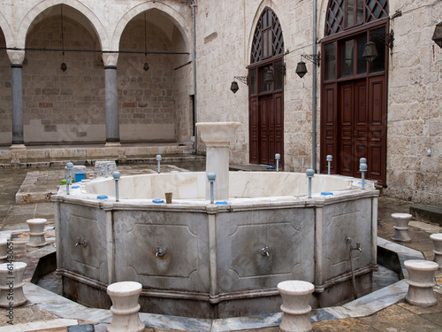 The fountain at courtyard of Ulu Mosque in Tarsus ,Turkey