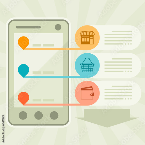 Internet shopping concept illustration.