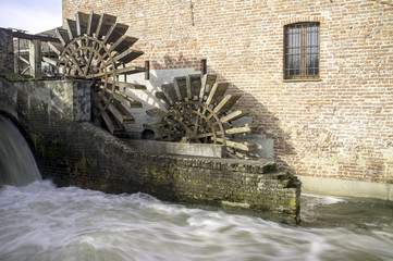 Leonardo da Vinci's water mill color image