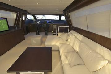Italy, Tuscany, luxury yacht, dinette