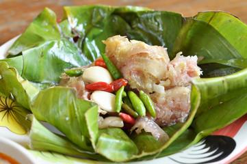 Sour pork or Nham